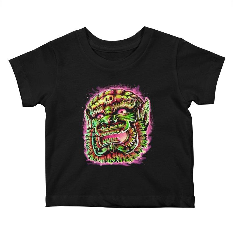 Yak Orc Kids Baby T-Shirt by villainmazk's Artist Shop