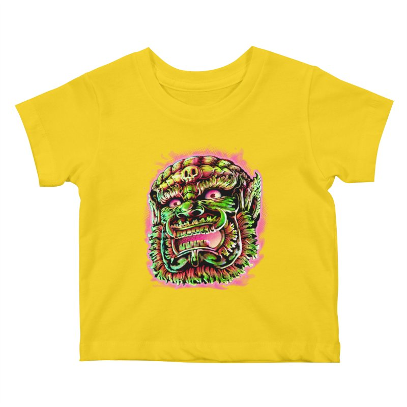 Yak Orc Kids Baby T-Shirt by villainmazk's Artist Shop