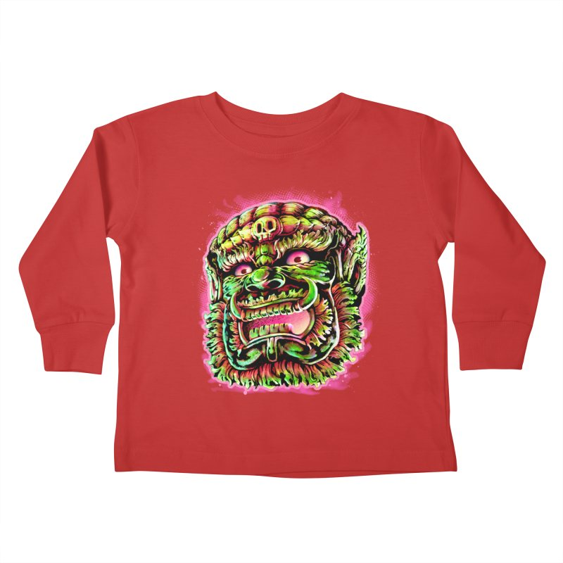 Yak Orc Kids Toddler Longsleeve T-Shirt by villainmazk's Artist Shop