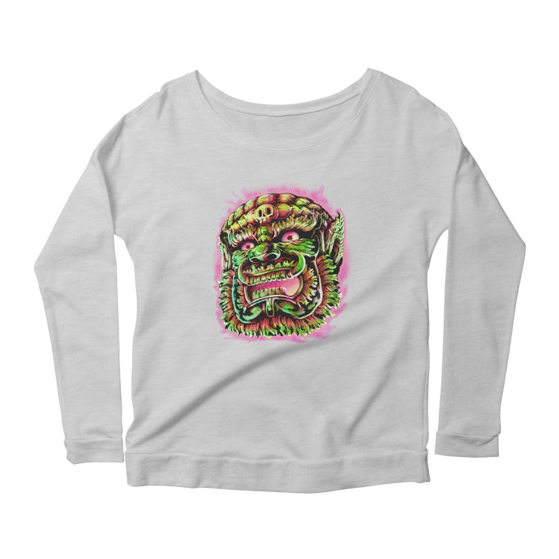 Yak Orc Women's Scoop Neck Longsleeve T-Shirt by villainmazk's Artist Shop