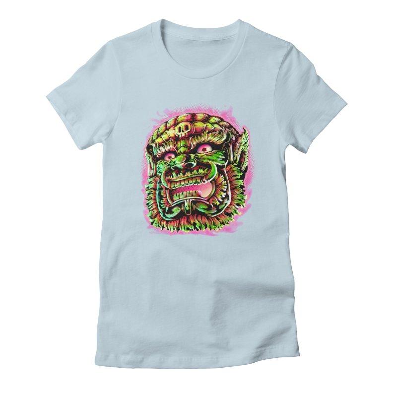 Yak Orc Women's Fitted T-Shirt by villainmazk's Artist Shop
