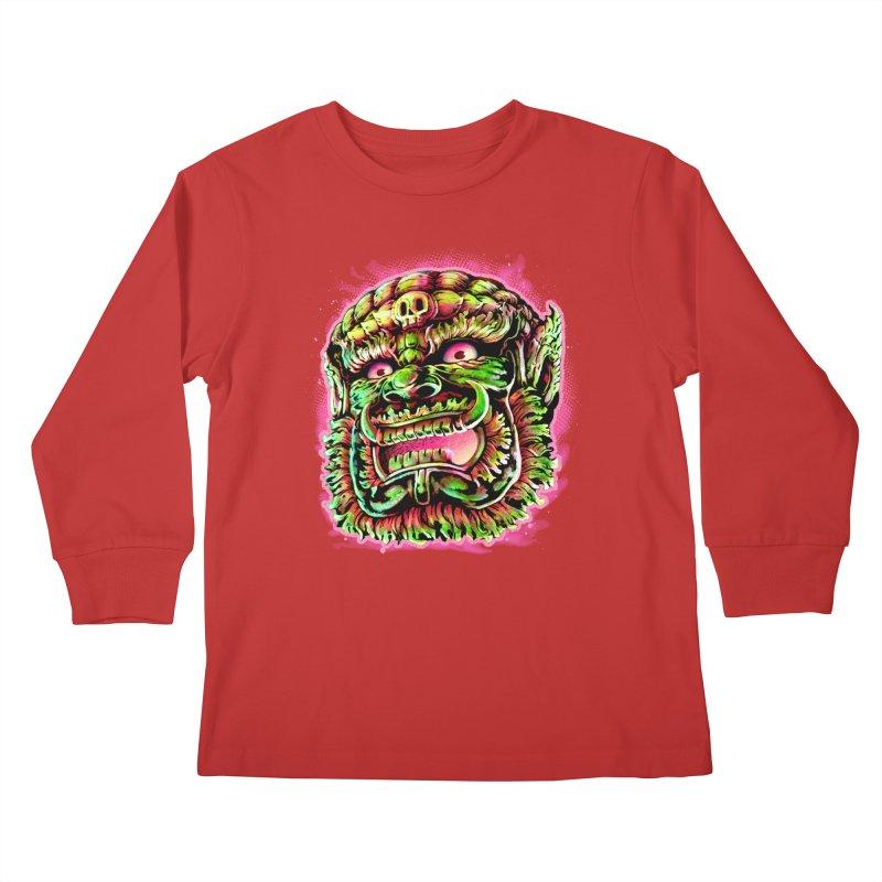 Yak Orc Kids Longsleeve T-Shirt by villainmazk's Artist Shop