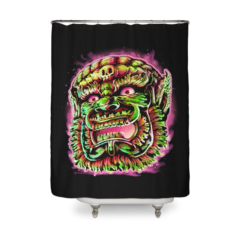 Yak Orc Home Shower Curtain by villainmazk's Artist Shop