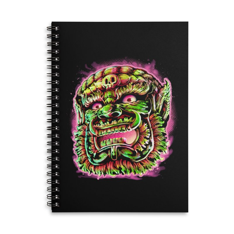 Yak Orc Accessories Lined Spiral Notebook by villainmazk's Artist Shop