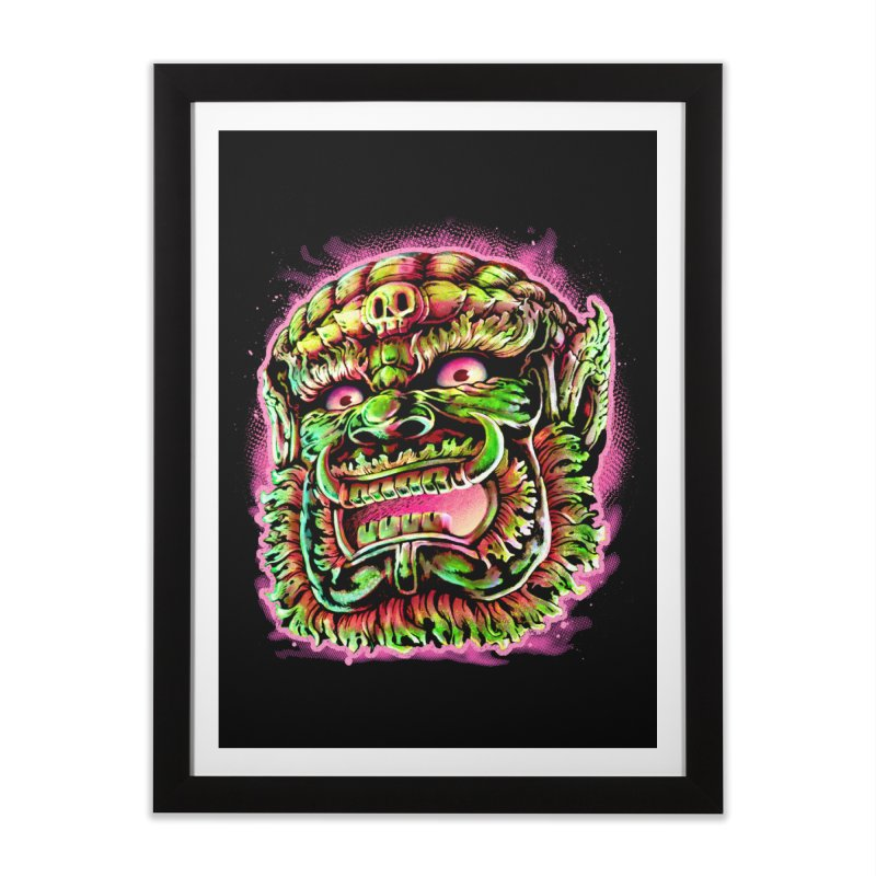 Yak Orc Home Framed Fine Art Print by villainmazk's Artist Shop