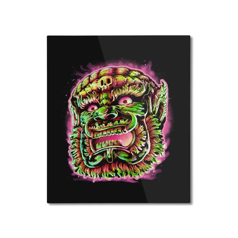 Yak Orc Home Mounted Aluminum Print by villainmazk's Artist Shop