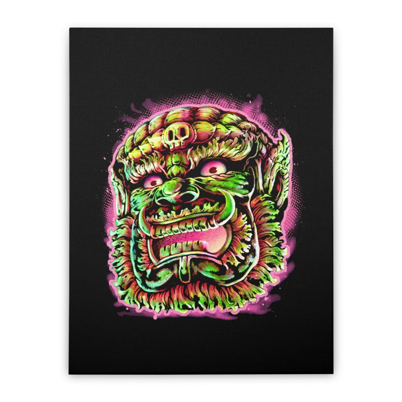 Yak Orc Home Stretched Canvas by villainmazk's Artist Shop