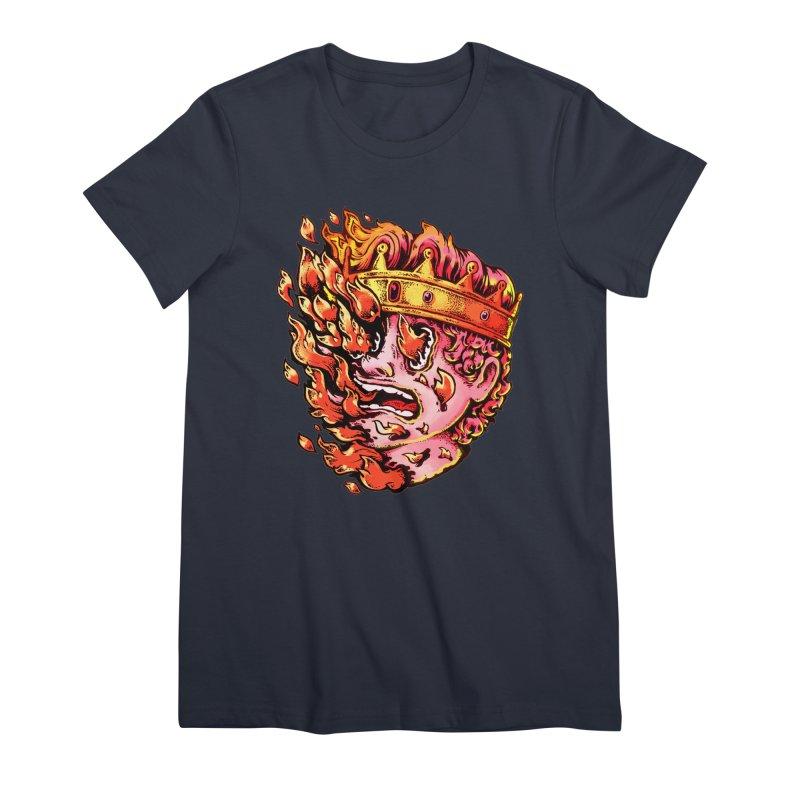 Burning King Women's Premium T-Shirt by villainmazk's Artist Shop