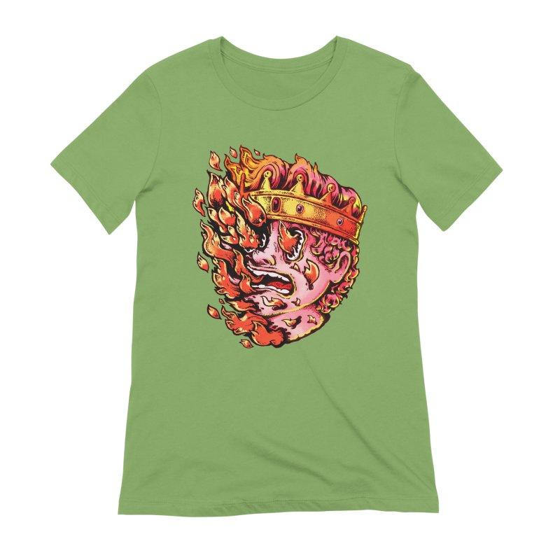 Burning King Women's Extra Soft T-Shirt by villainmazk's Artist Shop
