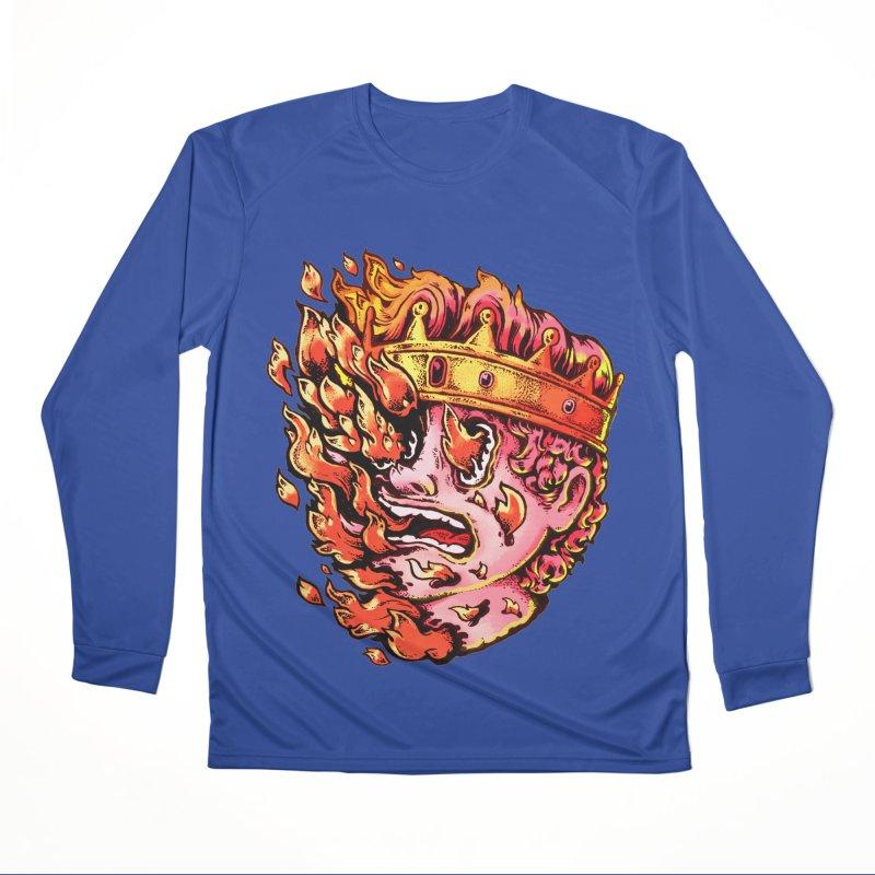 Burning King Women's Performance Unisex Longsleeve T-Shirt by villainmazk's Artist Shop