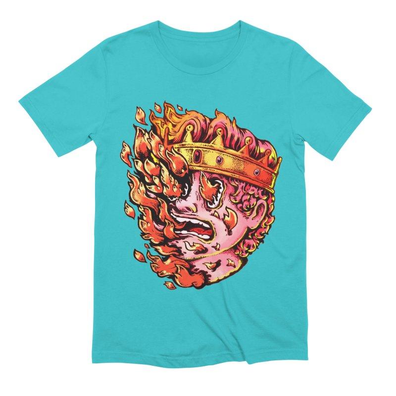 Burning King Men's Extra Soft T-Shirt by villainmazk's Artist Shop