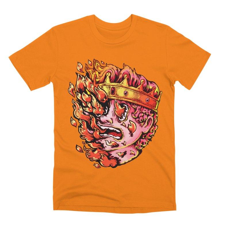 Burning King Men's T-Shirt by villainmazk's Artist Shop