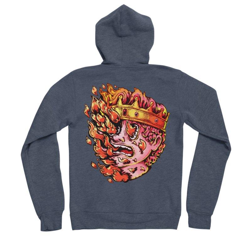 Burning King Women's Sponge Fleece Zip-Up Hoody by villainmazk's Artist Shop