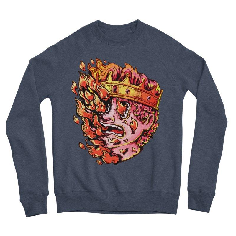 Burning King Men's Sponge Fleece Sweatshirt by villainmazk's Artist Shop