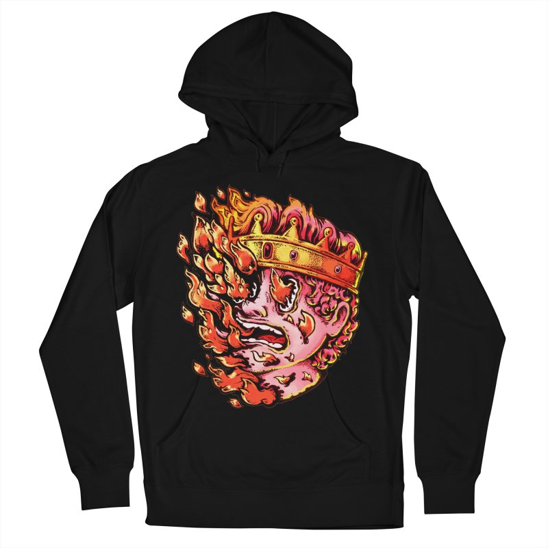 Burning King Men's French Terry Pullover Hoody by villainmazk's Artist Shop