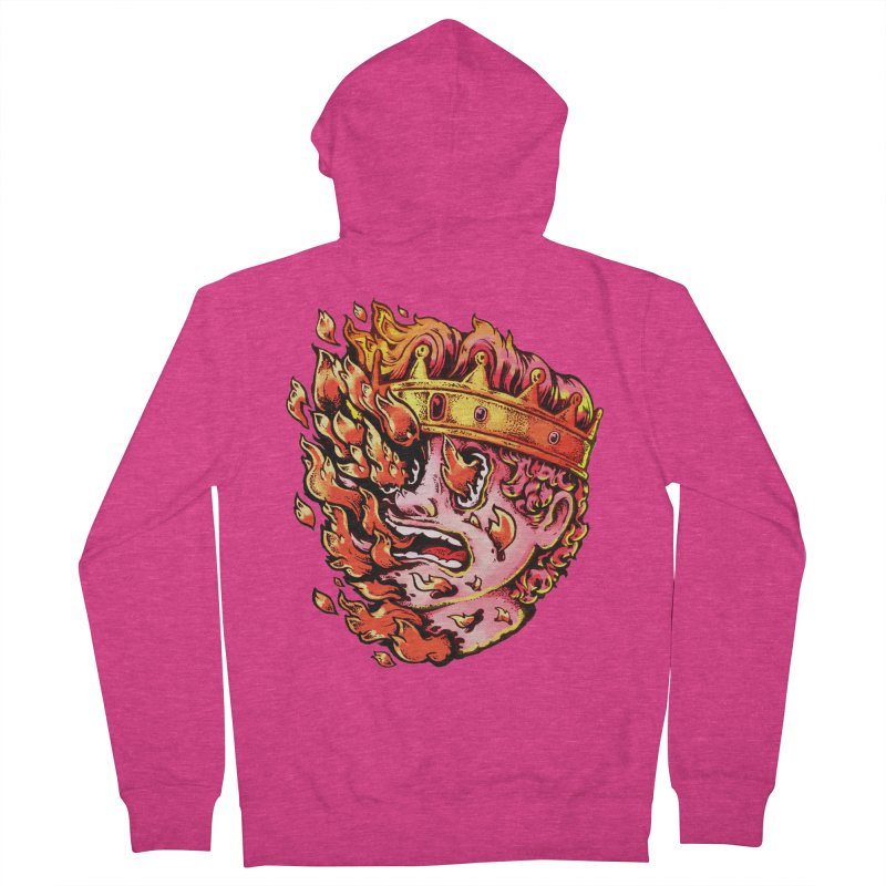 Burning King Women's French Terry Zip-Up Hoody by villainmazk's Artist Shop