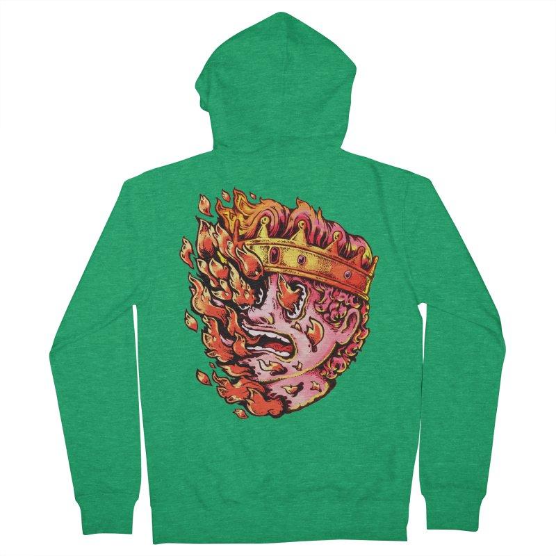 Burning King Men's Zip-Up Hoody by villainmazk's Artist Shop