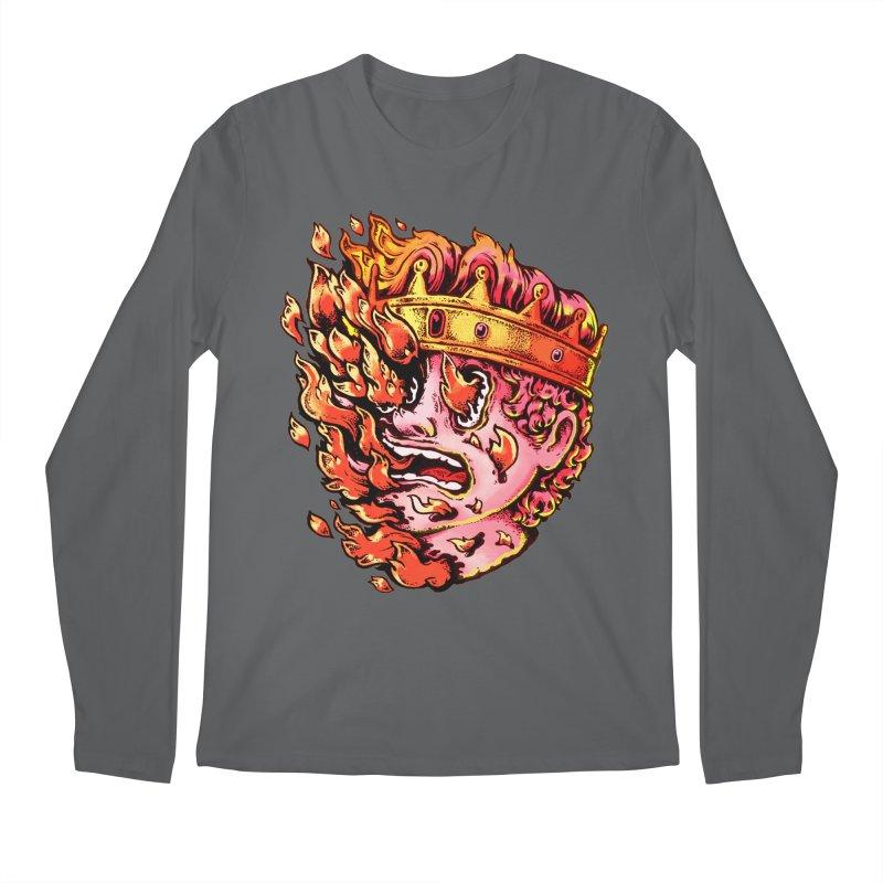 Burning King Men's Regular Longsleeve T-Shirt by villainmazk's Artist Shop