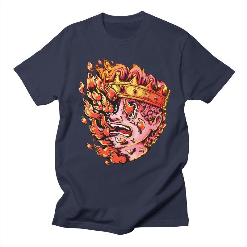 Burning King Men's Regular T-Shirt by villainmazk's Artist Shop