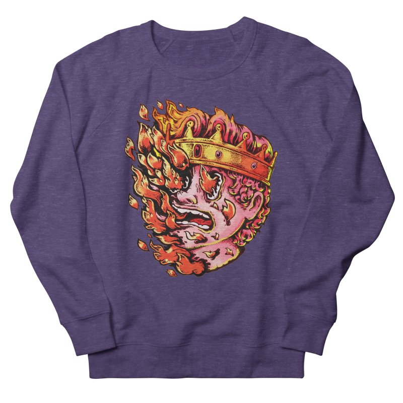 Burning King Women's French Terry Sweatshirt by villainmazk's Artist Shop