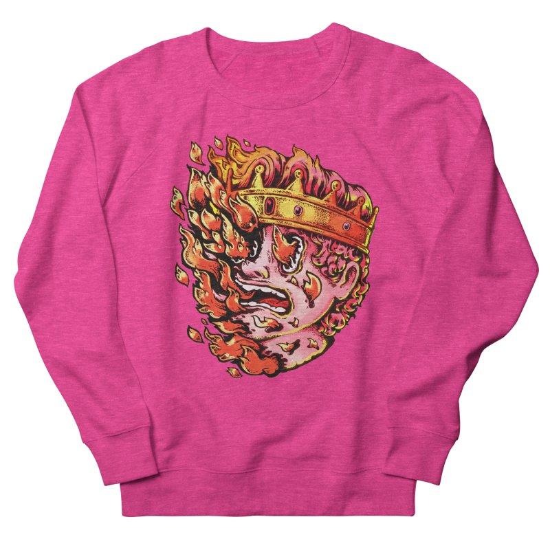 Burning King Men's French Terry Sweatshirt by villainmazk's Artist Shop