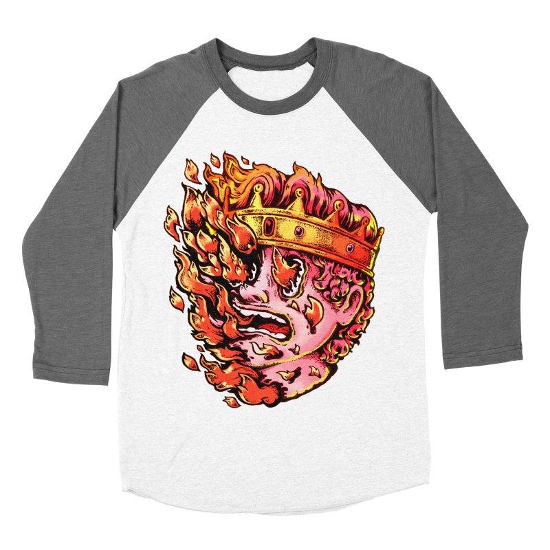 Burning King Women's Longsleeve T-Shirt by villainmazk's Artist Shop