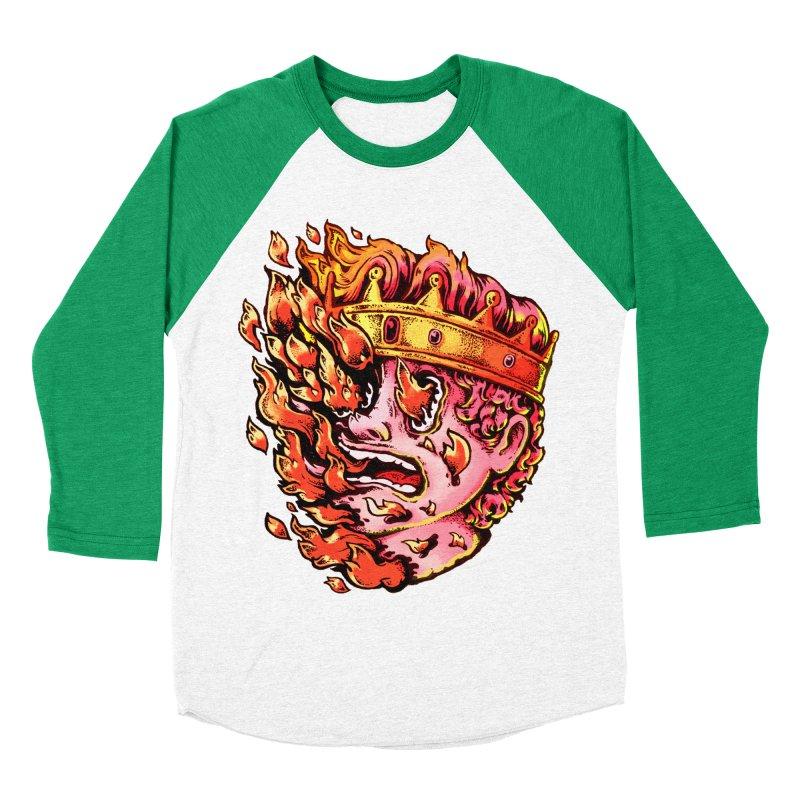 Burning King Women's Baseball Triblend Longsleeve T-Shirt by villainmazk's Artist Shop