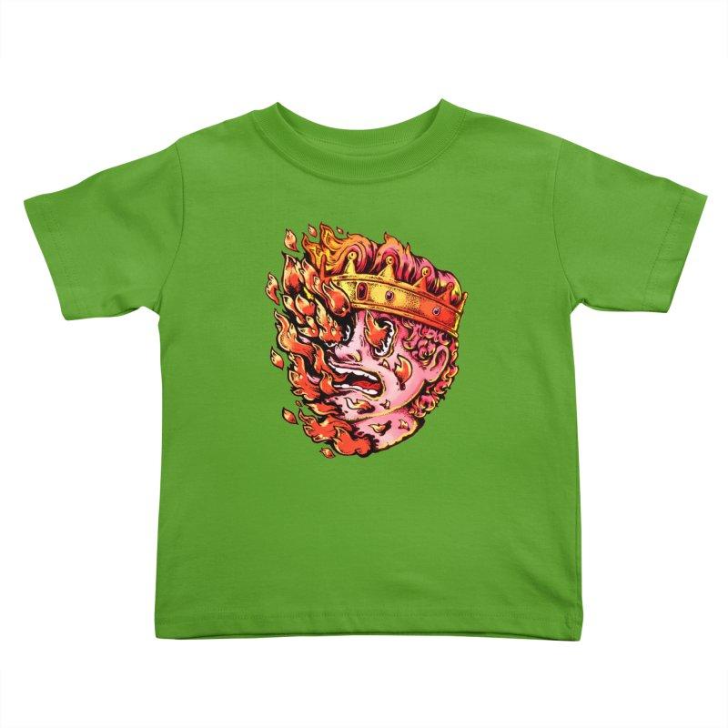 Burning King Kids Toddler T-Shirt by villainmazk's Artist Shop