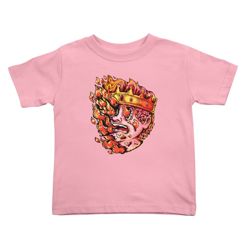 Burning King Kids Toddler T-Shirt by villainmazk's Artist Shop