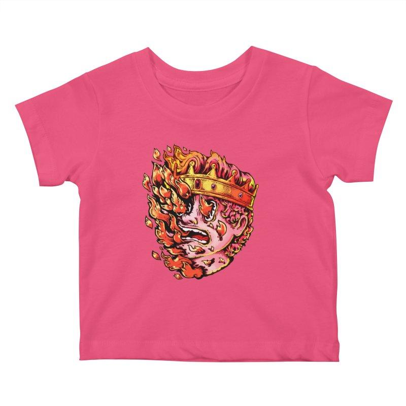 Burning King Kids Baby T-Shirt by villainmazk's Artist Shop