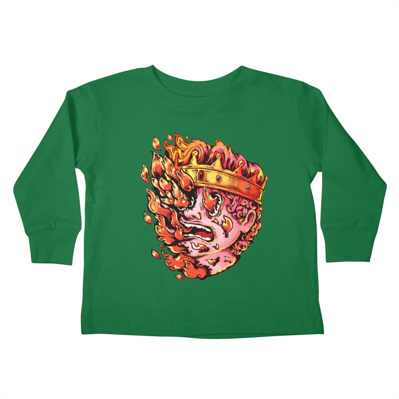 Burning King Kids Toddler Longsleeve T-Shirt by villainmazk's Artist Shop