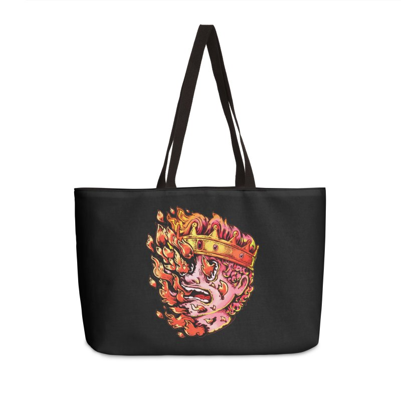Burning King Accessories Bag by villainmazk's Artist Shop