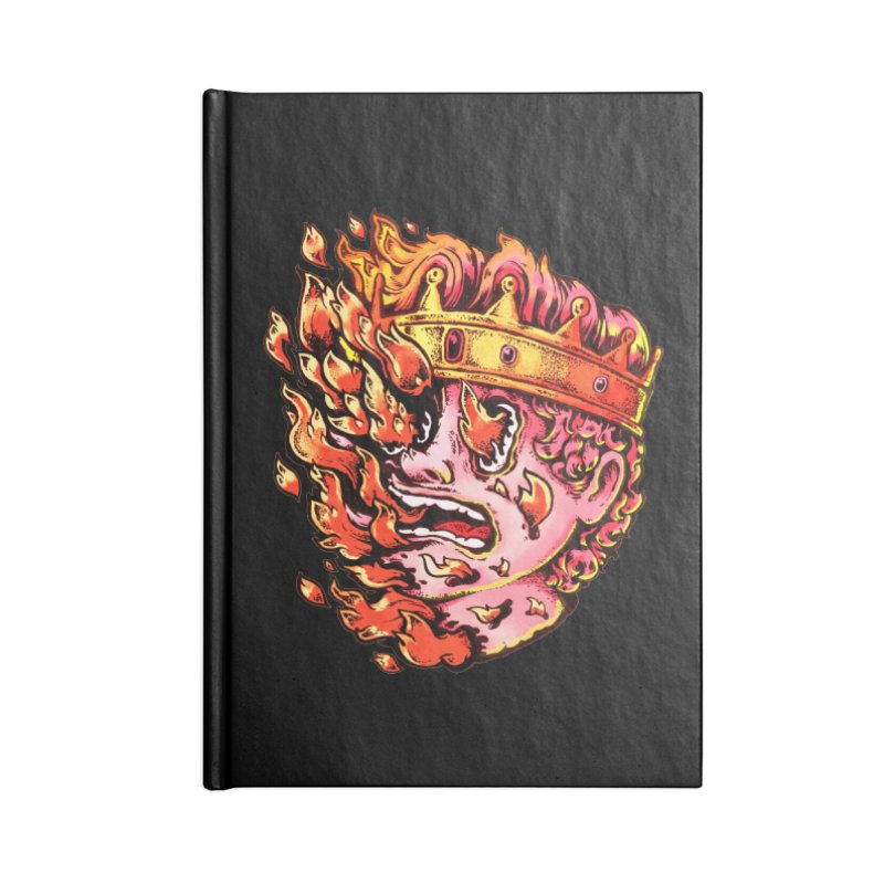 Burning King Accessories Blank Journal Notebook by villainmazk's Artist Shop