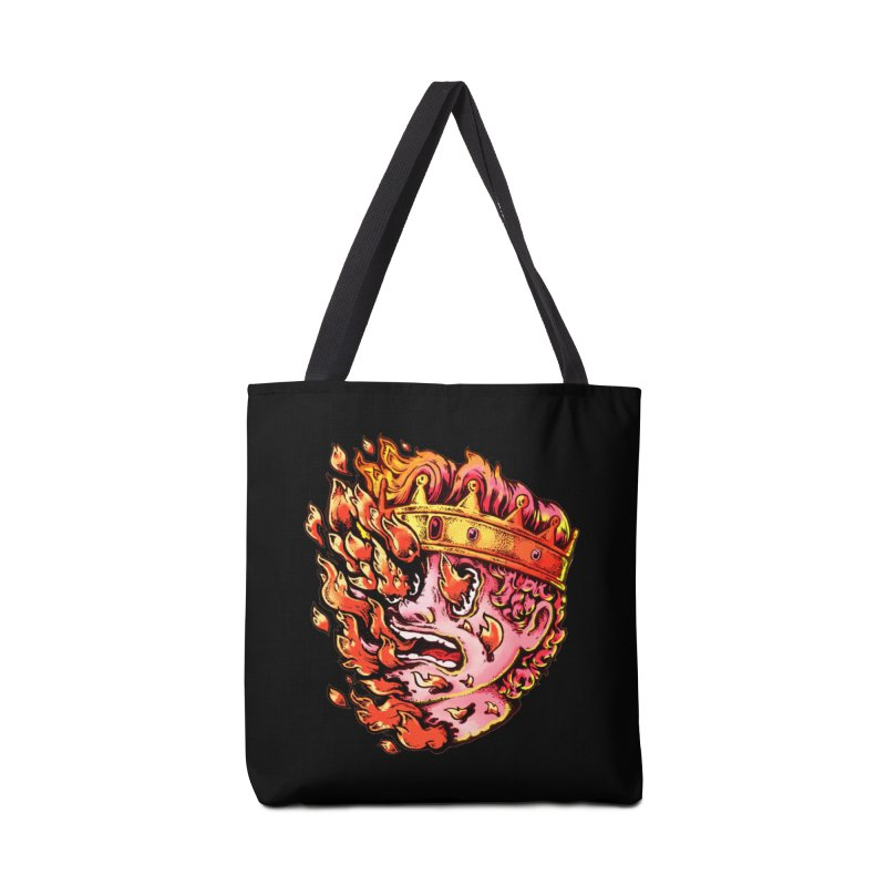Burning King Accessories Tote Bag Bag by villainmazk's Artist Shop