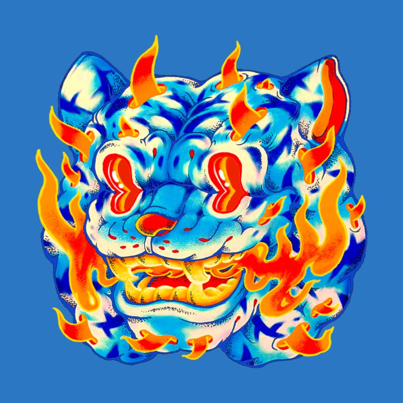 Frost Flame Tiger Men's T-Shirt by villainmazk's Artist Shop