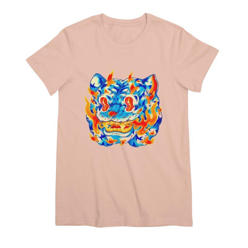 Frost Flame Tiger Women's Premium T-Shirt by villainmazk's Artist Shop