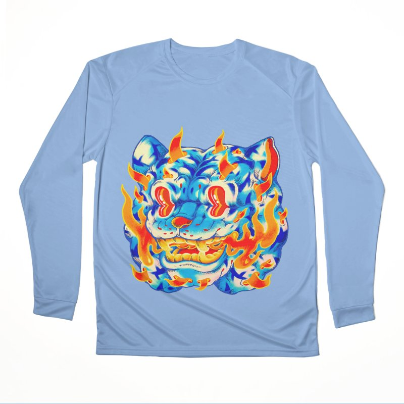 Frost Flame Tiger Men's Performance Longsleeve T-Shirt by villainmazk's Artist Shop