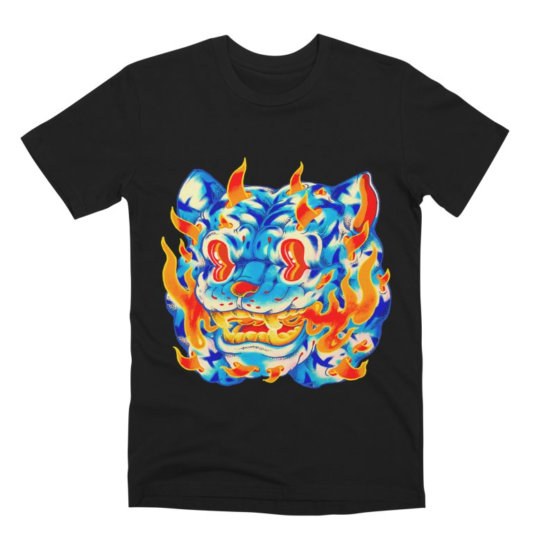 Frost Flame Tiger Men's Premium T-Shirt by villainmazk's Artist Shop