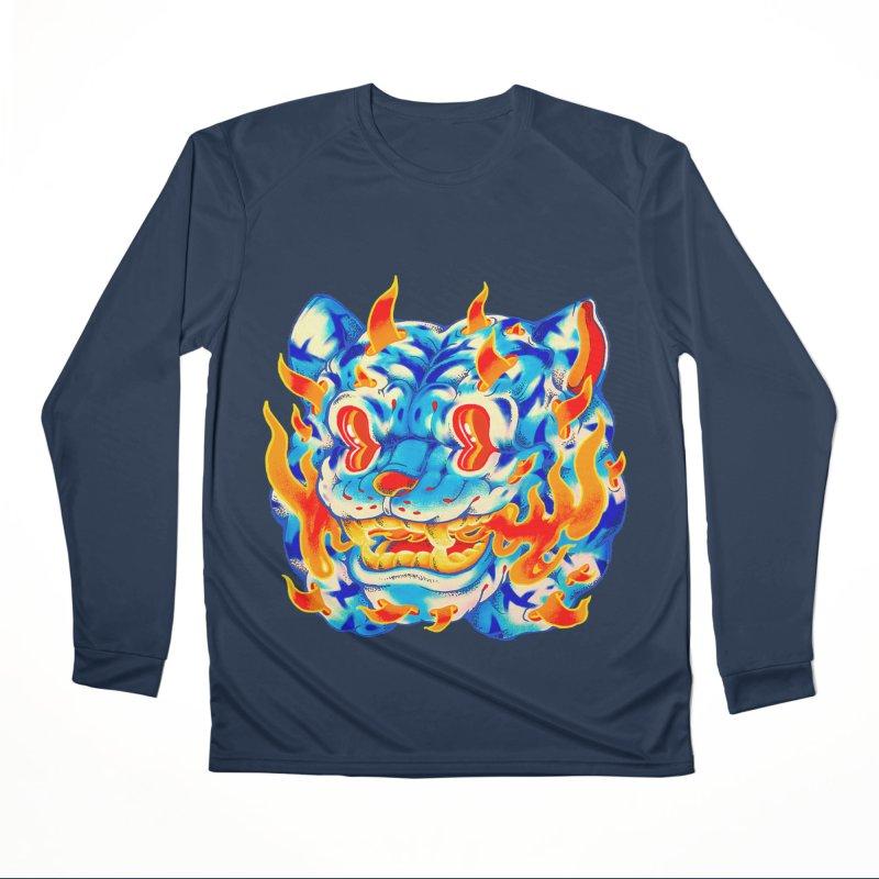 Frost Flame Tiger Men's Performance Longsleeve T-Shirt by villainmazk's Artist Shop