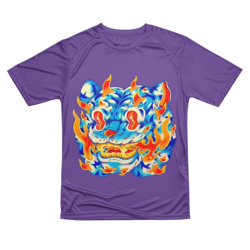 Frost Flame Tiger Women's Performance Unisex T-Shirt by villainmazk's Artist Shop