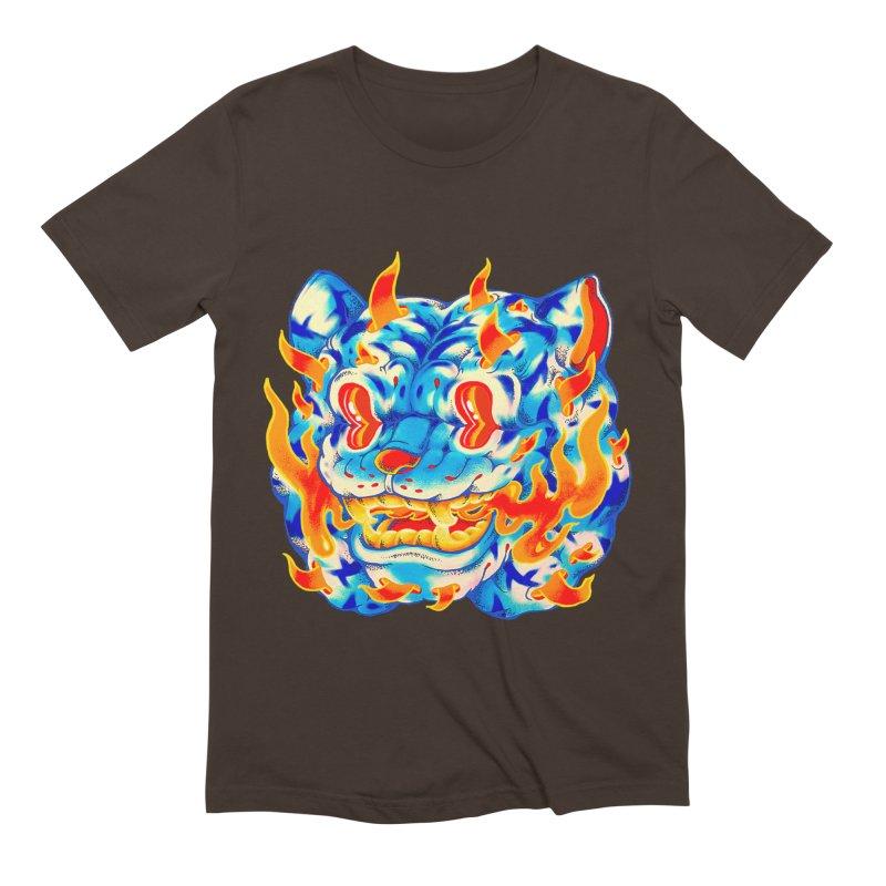 Frost Flame Tiger Men's Extra Soft T-Shirt by villainmazk's Artist Shop
