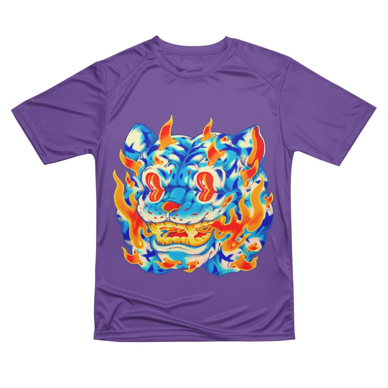 Frost Flame Tiger Men's Performance T-Shirt by villainmazk's Artist Shop