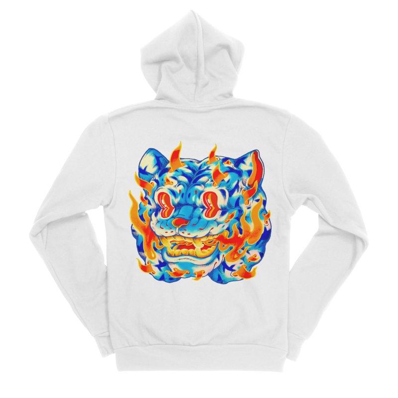 Frost Flame Tiger Men's Sponge Fleece Zip-Up Hoody by villainmazk's Artist Shop