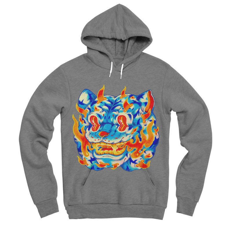Frost Flame Tiger Women's Sponge Fleece Pullover Hoody by villainmazk's Artist Shop