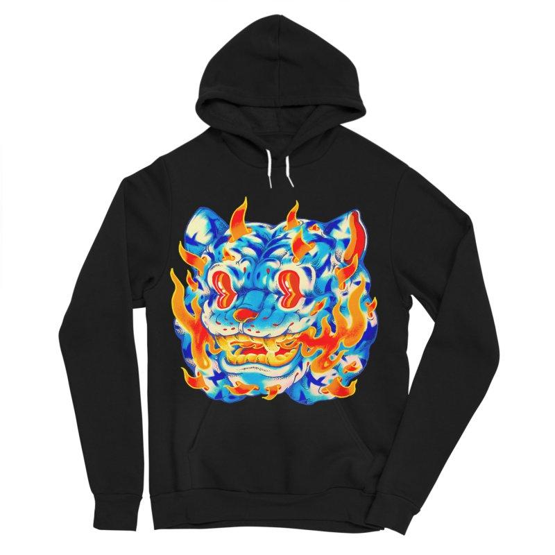 Frost Flame Tiger Men's Sponge Fleece Pullover Hoody by villainmazk's Artist Shop
