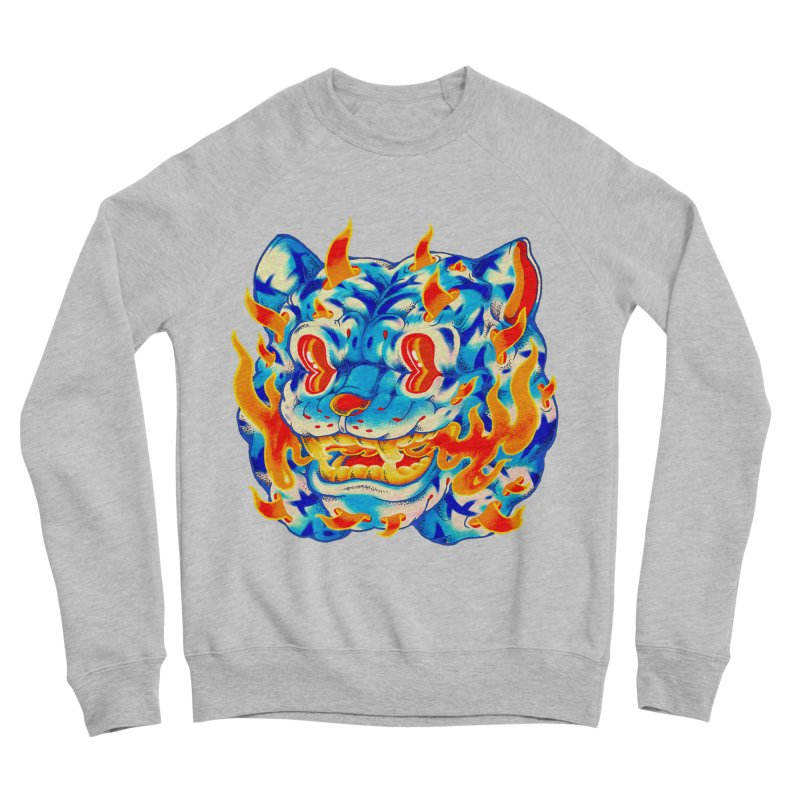 Frost Flame Tiger Women's Sponge Fleece Sweatshirt by villainmazk's Artist Shop