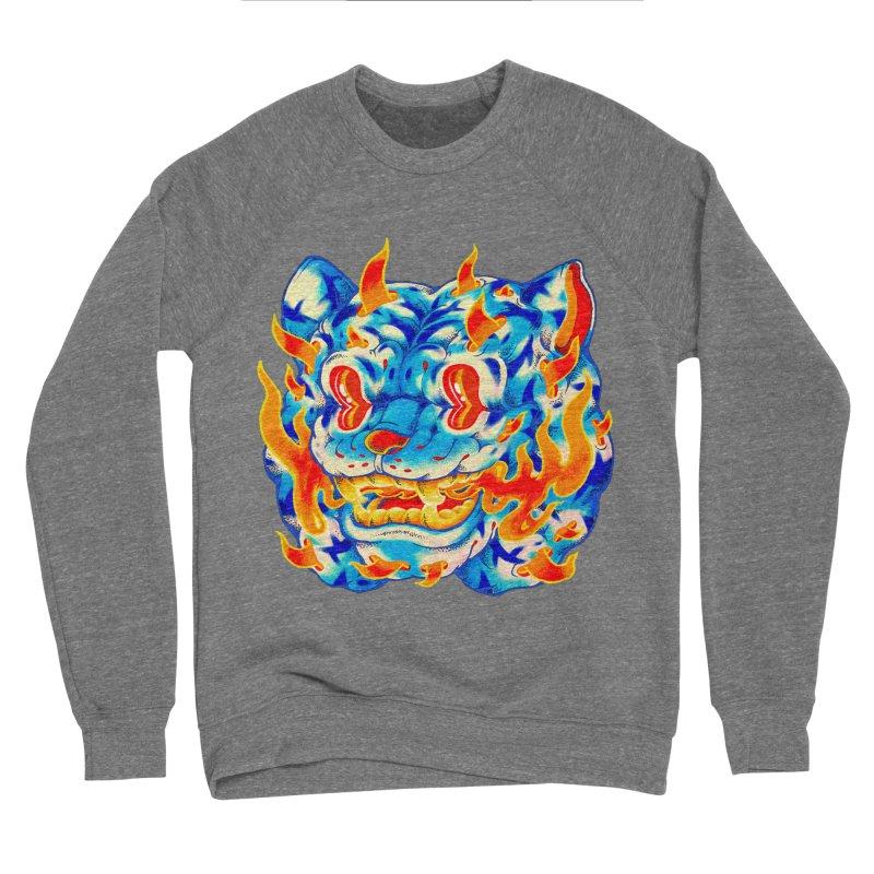 Frost Flame Tiger Women's Sponge Fleece Sweatshirt by villainmazk's Artist Shop