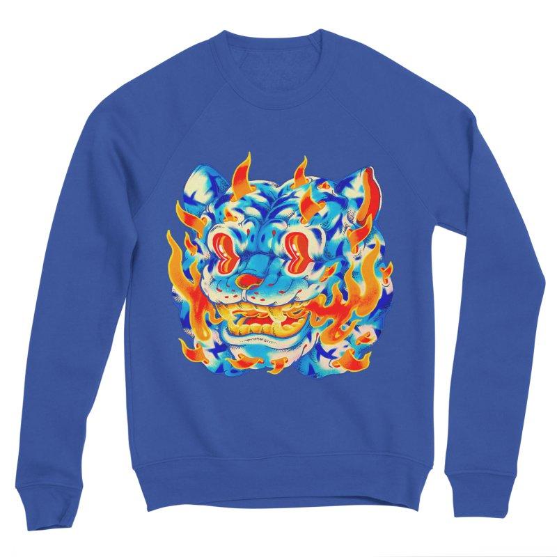 Frost Flame Tiger Women's Sweatshirt by villainmazk's Artist Shop