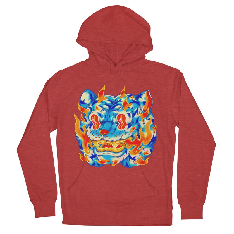 Frost Flame Tiger Men's French Terry Pullover Hoody by villainmazk's Artist Shop