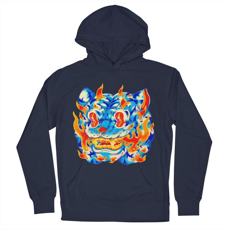 Frost Flame Tiger Men's Pullover Hoody by villainmazk's Artist Shop